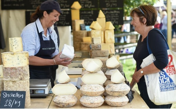 Photo: The Foodwalk at the Land Rover Burghley Horse Trials