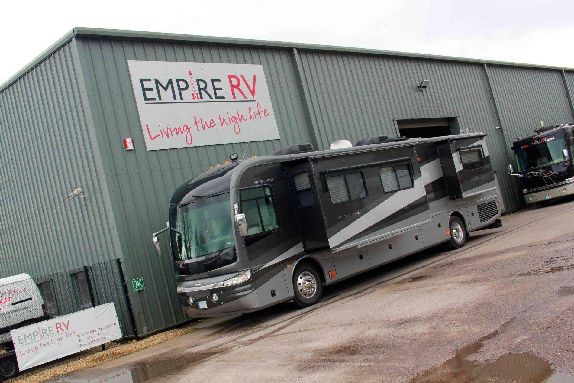 Fleetwood Revolution 40L Motorhomes for sale rent – (c) Empire RV