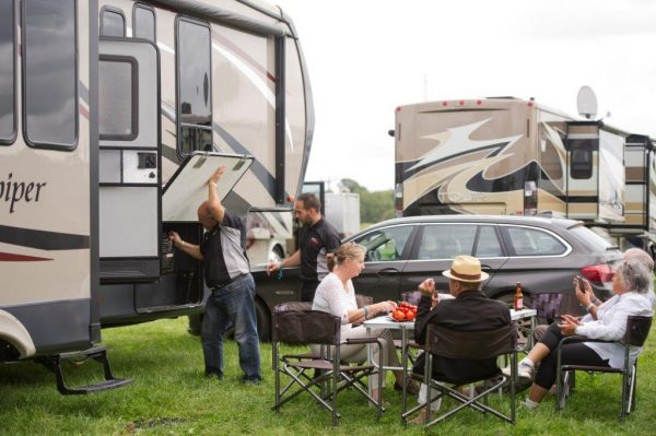 Winnebago and RV hire at Goodwood Revival 2017